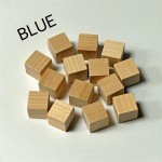 2cm wooden cubes - BLUE. Pack of 100