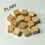 2cm wooden cubes - plain. Pack of 100