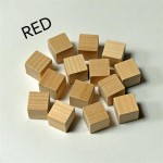 2cm wooden cubes - RED. Pack of 100