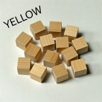 2cm wooden cubes - YELLOW. Pack of 100